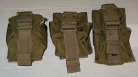 Lot of 3 Army Military Surplus MOLLE Coyote Tan Frag Grenade Pouch MARSOC VG