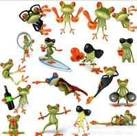 Wholesale 20Pcs Frog Funny Car Stickers Truck Window Vinyl Decal Sticker 14x16cm