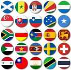 MINI FRIDGE MAGNET - WORLD FLAGS Various  25mm / 1 inch, S to T