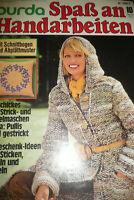 Burda Spaß an Handarbeiten Nr. 10 1976  Oktober mit Schnittbogen Häkeln Stricken