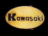 NC05159 *NOS* VINTAGE 1980 BARON **KAWASAKI** SOLID BRASS MOTORCYCLE BELT BUCKLE