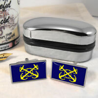 Royal Naval Supply Flag Mens Gift Cufflinks UK