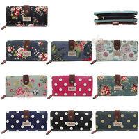 City Girl Designer Ladies Girls Polka Dot/Flower (Floral) Oil Cloth Purse/Wallet