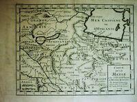 Kupferstich Landkarte H LIÉBAUX 1729: Carte de la Medie / Mittlerer Osten
