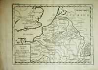 Kupferstich Landkarte HENRI LIÉBAUX 1730:  BELGIEN / Carte de la Belgique