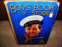 BOYS BOOK OF STORIES . large hard back book circa 1940s