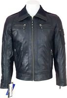 UNICORN LONDON Mens Black 100% Real Leather Jacket  'All Sizes':H5