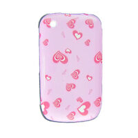 Pink Back Case Heart Cover for Blackberry 8520 Curve