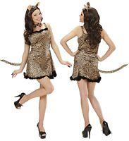 damen kost m leopard raubkatze katze sexy kleid. Black Bedroom Furniture Sets. Home Design Ideas