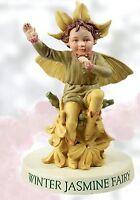 RETIRED Cicely Mary Barker WINTER JASMINE Flower Garden Fairy Ornament Figurine