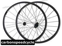 Carbon Fiber Bicycle Wheel 24mm Clincher DT Hub+Sapim Spokes Racing Wheelset