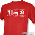 Eat Sleep Rosso Uomini FC Liverpool Football Club T-Shirt