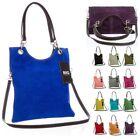 Big Handbag Shop Suede Leather Plain Top Handle Evening Clutch Shoulder Bag