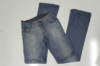 """Miss Sixty womens fitted light blue faded denim bootcut jeans pants 25"""" waist"""