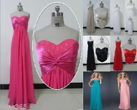 Stock Prom Bridal Evening Dress Formal Party Gown size 6 8 10 12 14 16