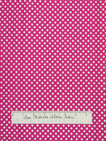 Polka Dot Fabric - Small White Dots on Pink - Quilting Sewing Cotton YARDS