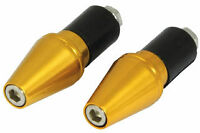 MOTORCYCLE BULLET BAR ENDS WEIGHTS - GOLD 22mm 7/8""