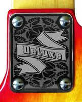 Neck Plate Neckplate Chrome Fender Strat Tele P Bass J Bass Guitar Floral Delux