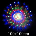 160 LED Multi Color Spider Web Net Lights with 8 Function Controller 1Mx1M