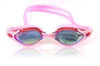 Pink Swimming Goggles Non-Fogging Anti UV Adjustable Swim Glasses