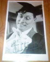 Claude Dampier Authentic Hand-Signed Photo Postcard AFTAL Autograph Signature