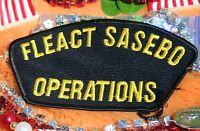 Military Patch Fleact Sassebo Operations  Shoulder Uniform Navy USN Air Force