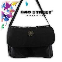 XL Messenger Bag Schultertasche Tasche Bag Umhängetasche Shopper Tasche Schwarz
