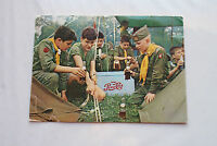 Old Vintage Large Boy Scouts & Pepsi Adverising Postcard Jamboree 1960 Colorado