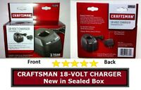 Craftsman Sears 18V 18 Volt Battery Charger 11379 New Dual LED 1426101 140295004