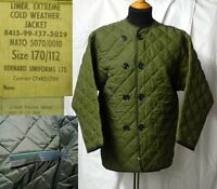 COAT LINERS, LONG SLEEVED, THERMAL, QUILTED, BRITISH ARMY/NATO