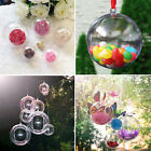 10Pcs Clear Plastic Balls Transparent Open Bauble Ornaments Christmas Tree Decor