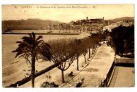 CPA 06 Alpes-Maritimes Cannes Le Boulevard de la Croisette et le Mont Chevalier