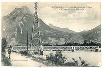 CPA 38 Isère Grenoble Pont Métallique sur le Drac animé