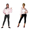 LADIES GIRLS PINK LADY JACKET COAT 1950's FANCY DRESS UP COSTUME OFFICIAL GREASE