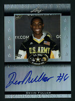 DEVIN FULLER LEAF METAL DRAFT 2012 AUTO ARMY BOWL UCLA BRUINS SIGNED CARD /50