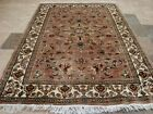 WOW IVORY TOUCH FLOWERS MEDALLION LOVELY HAND KNOTTED RUG WOOL SILK CARPET 6X4