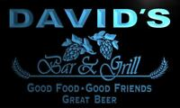 pr006-b David's Bar & Grill Beer Wine Neon Light Sign