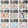 Cartoon Kids Temporary Tattoo Sticker Sheet Party Favours Lolly Loot Bag Tattoo