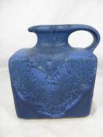 Rare blue lava glazed 70´s design Silberdistel Keramik vase 384 / 15