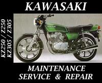Kawasaki KZ250 KZ305 KZ Z 250 305 Service Repair Maintenance Rebuild Manual