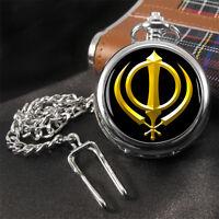 Khanda Sikh Pocket Watch