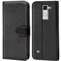 Book Case für LG Stylus 2 Hülle Klapphülle Tasche Flip Cover Handy Etui Schwarz