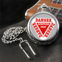 Warning Ejection Seat Pocket Watch