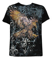 Konflic NWT Men's Striking Eagle Graphic Designer MMA Muscle T-shirt, Black