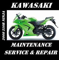 Kawasaki 250R Ninja EX 250 Service Repair Maintenance Rebuild Manual 2008