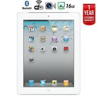 Apple iPad 2 MC916LL/A Tablet (16GB, Wifi, White) 2nd Gen + Extended Warranty
