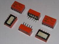 6pcs  NEC 5V RELAY 2 form C Double coil  latch Miniature EA2-5TNFG .NOS.