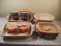 Le Creuset Stoneware Dishes & Ramekins, all Brand New