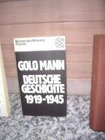 Deutsche Geschichte 1919-1945, von Golo Mann
