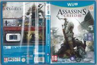 ASSASSIN'S CREED III 3 WII U COMPLETO OTTIMO USATO PAL